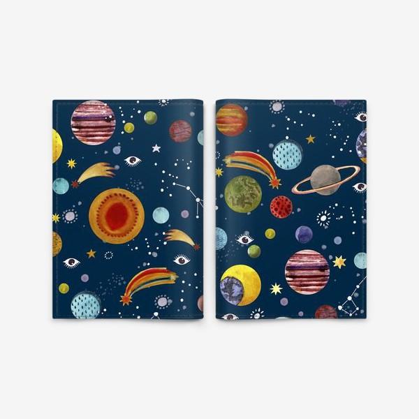Обложка для паспорта «Межпланетный космический паттерн.»