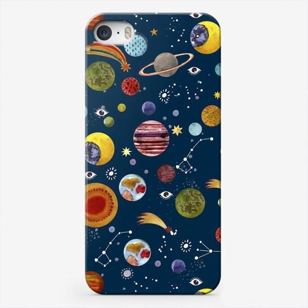 Чехол iPhone «Межпланетный космический паттерн.»