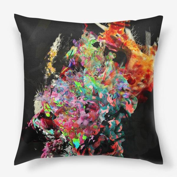 Подушка «Абстрактный фейерверк»