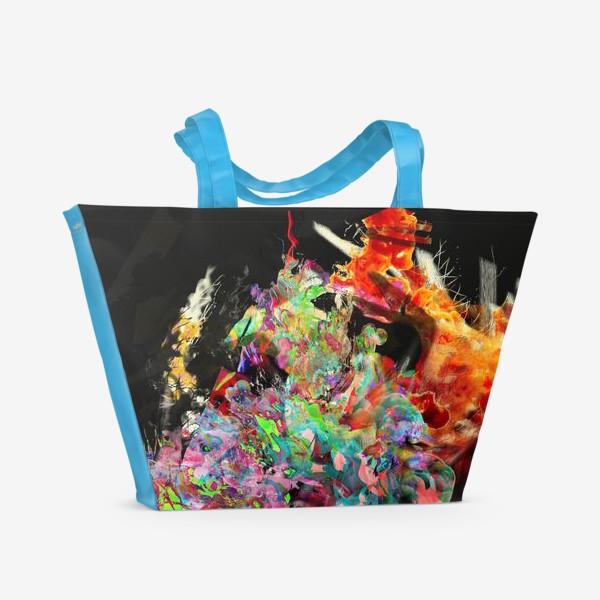 Пляжная сумка «Абстрактный фейерверк»