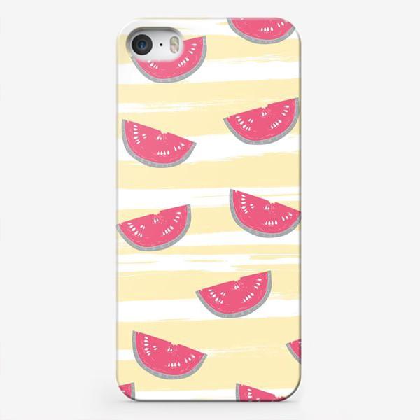 Чехол iPhone «Паттерн с кусочками арбуза»