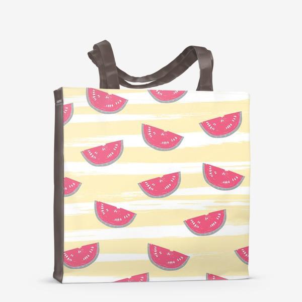 Сумка-шоппер «Паттерн с кусочками арбуза»
