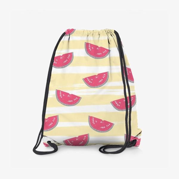 Рюкзак «Паттерн с кусочками арбуза»