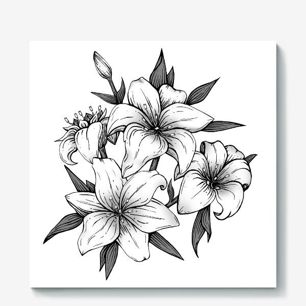 Холст «Лилии»