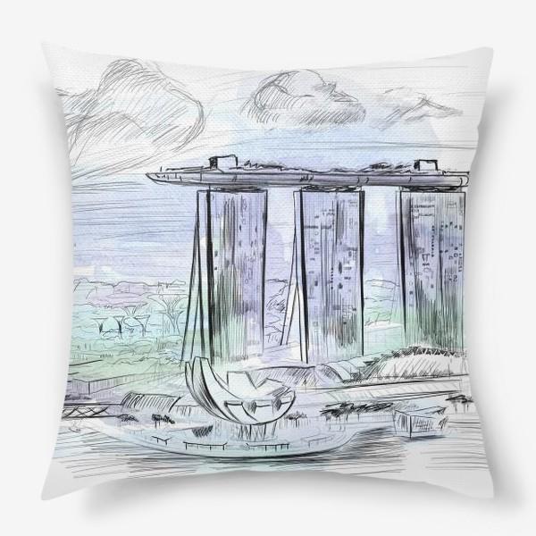 Подушка «Сингапур - город мечта!»