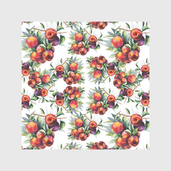 Скатерть «Яблоки акварель паттерн»