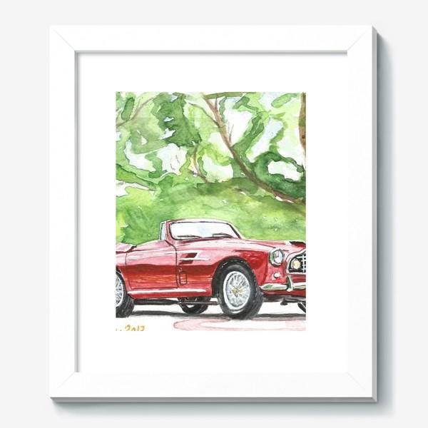 Картина «Red Aston Martin DB2 Cabrio»