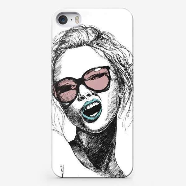 Чехол iPhone «Девушка в розовых очках»