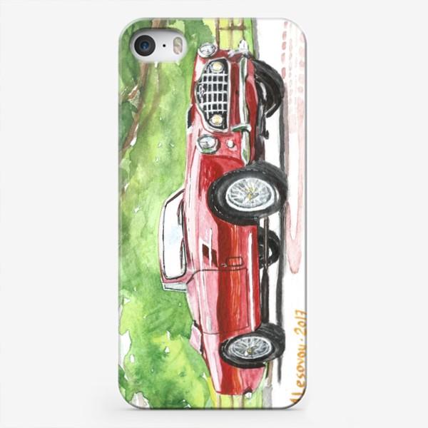 Чехол iPhone «Red Aston Martin DB2 Cabrio»
