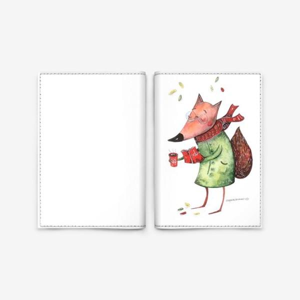 Обложка для паспорта «Лисичка и Очки»