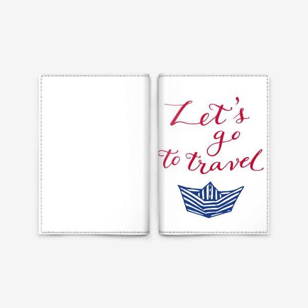 Обложка для паспорта «Lets go to travel sketch»