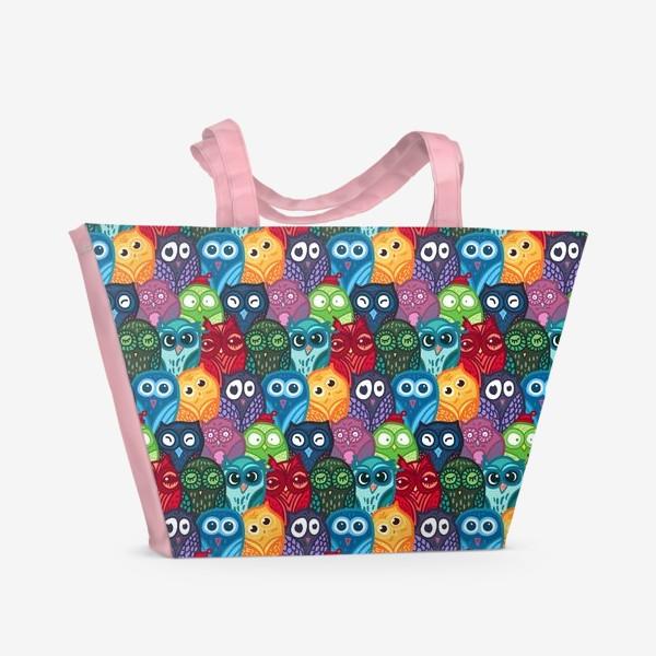 Пляжная сумка «Милые совушки»