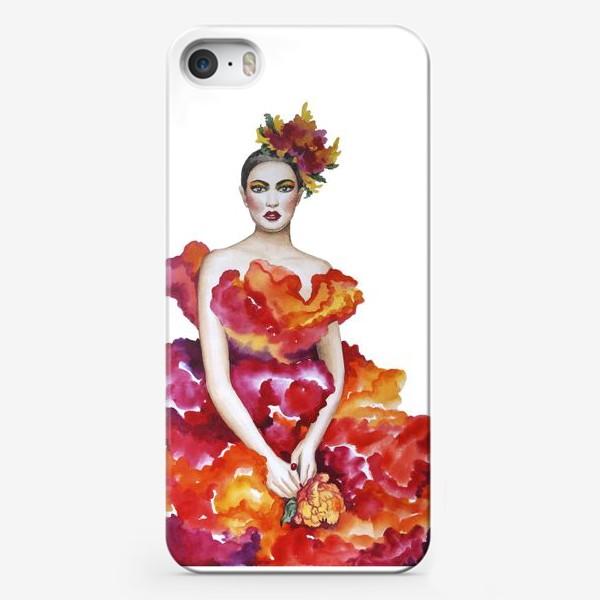 Чехол iPhone «Девушка-Осень»