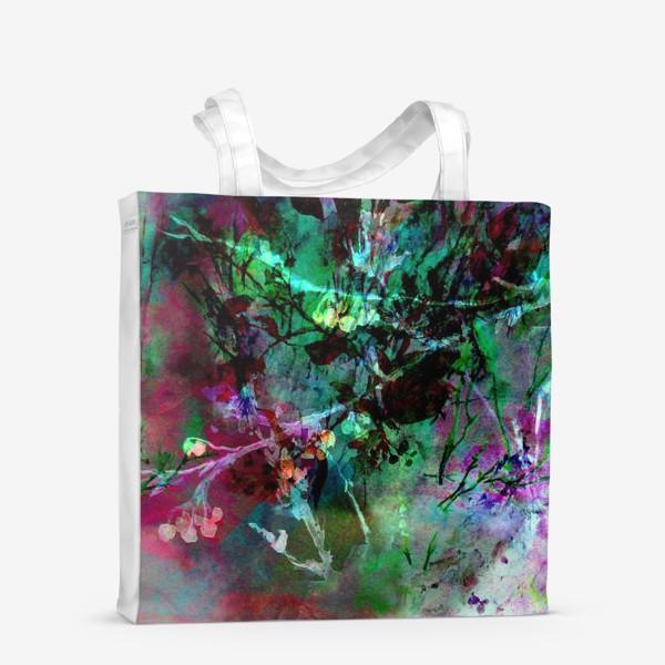 Сумка-шоппер «Цветочный пейзаж. Коллаж»