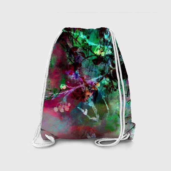 Рюкзак «Цветочный пейзаж. Коллаж»