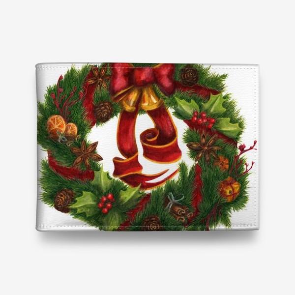 Кошелек «Рождественский венок Christmas wreath Ар нуво»