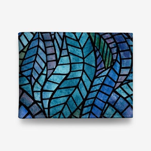 Кошелек «Голубая геометрическая мозаика Ар нуво»
