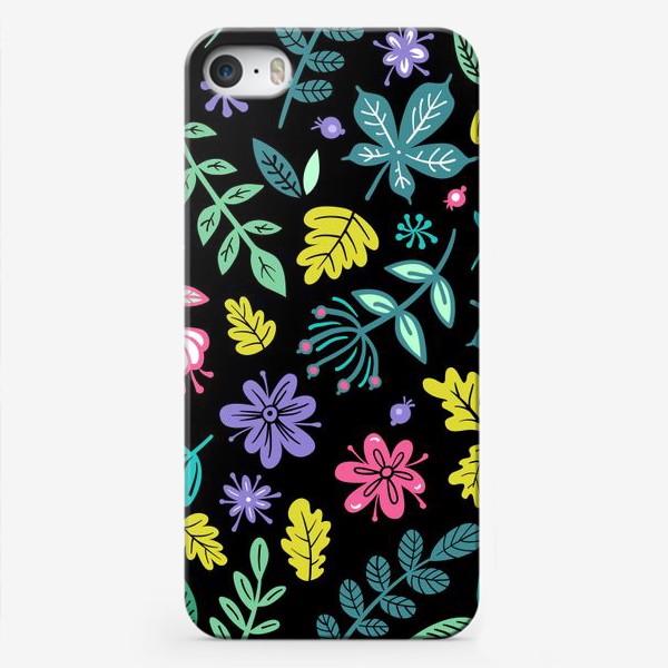 Чехол iPhone «Цветочная ночь»