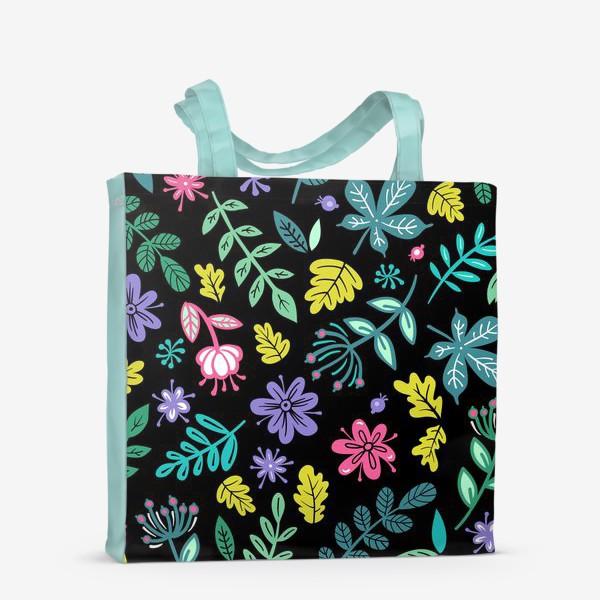 Сумка-шоппер «Цветочная ночь»