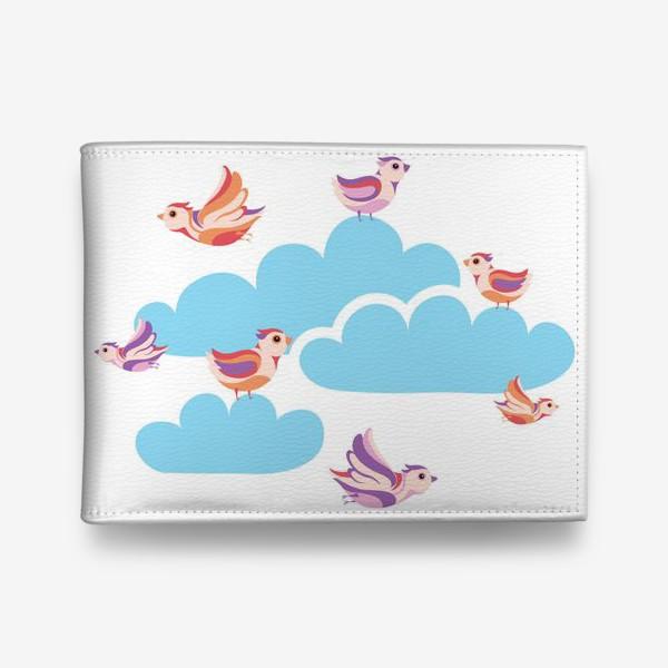 Кошелек «Птицы и облака»