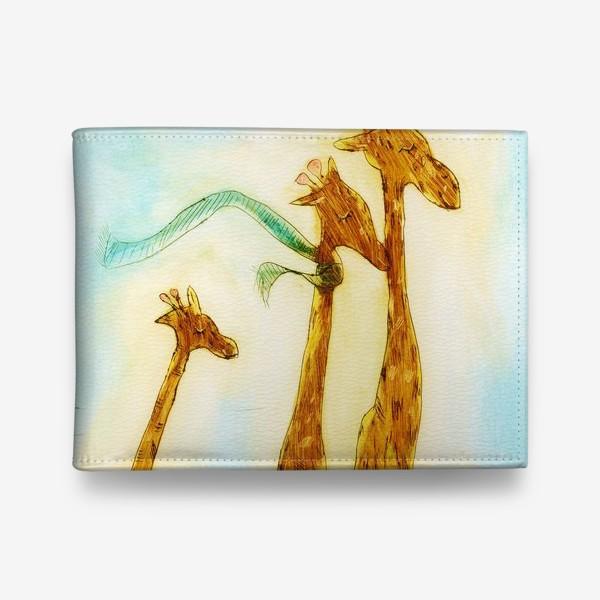 Кошелек «жирафы на велосипеде»