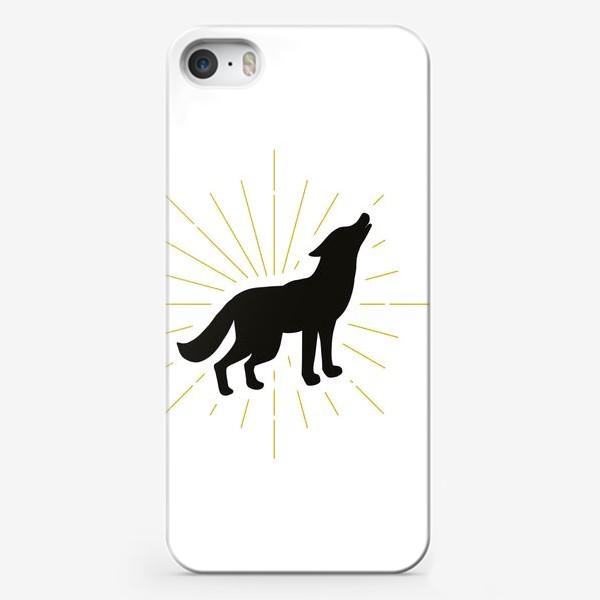Чехол iPhone «Воющий дикий волк»