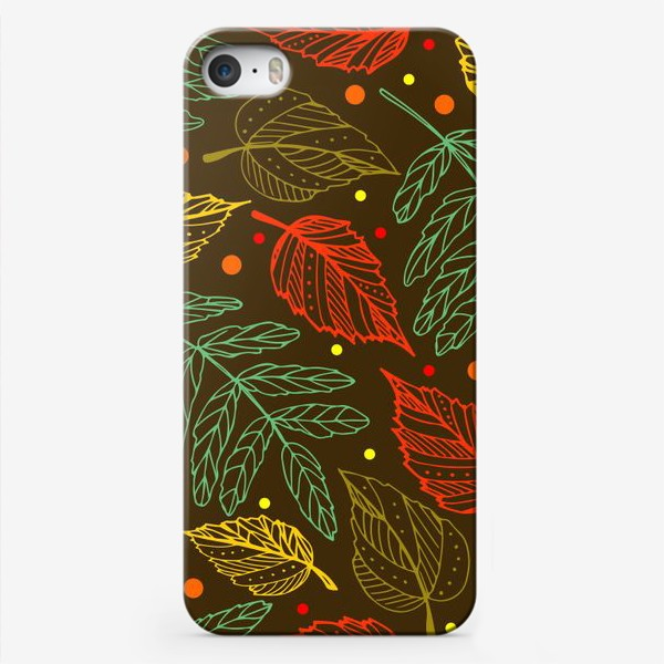Чехол iPhone «Осенние листья. Узор»