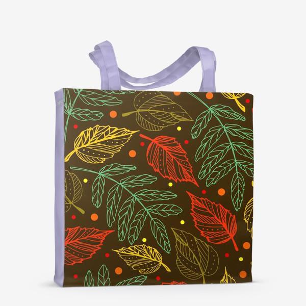 Сумка-шоппер «Осенние листья. Узор»