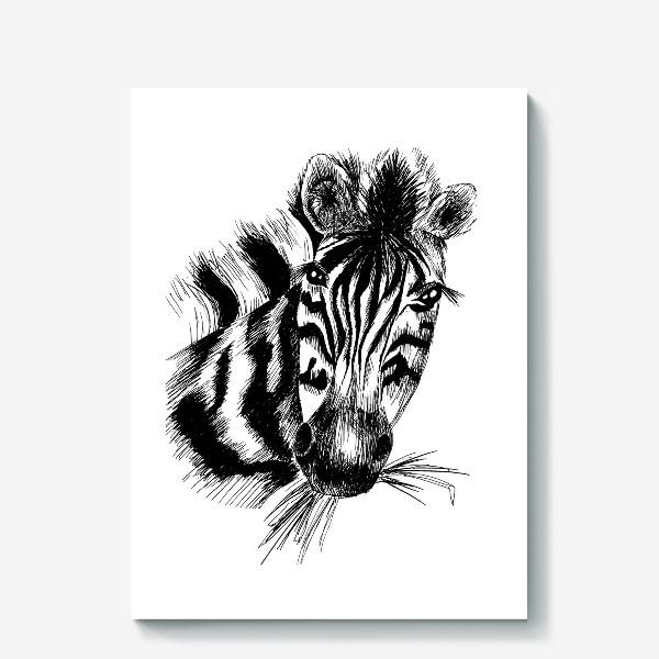 Холст «Дикая зебра»
