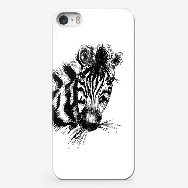 Чехол iPhone «Дикая зебра»