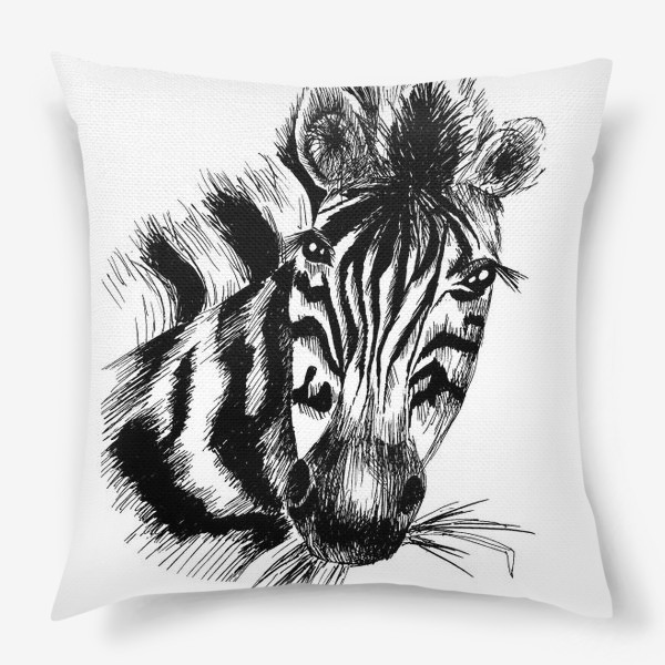 Подушка «Дикая зебра»