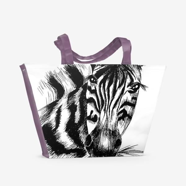 Пляжная сумка «Дикая зебра»