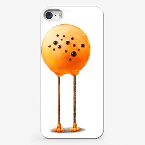 Чехол iPhone «Пушистый оранжевый монстр»