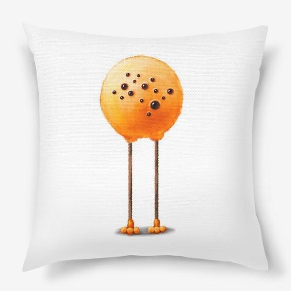 Подушка «Пушистый оранжевый монстр»