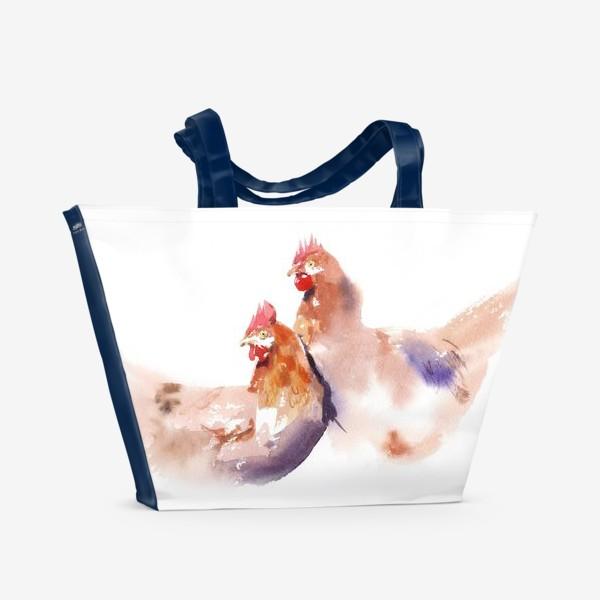 Пляжная сумка «КУРИЦА»