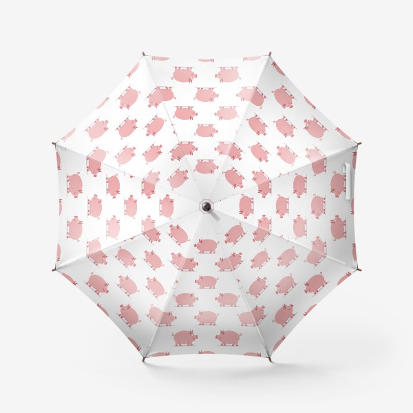 Зонт «Паттерн со свинками»