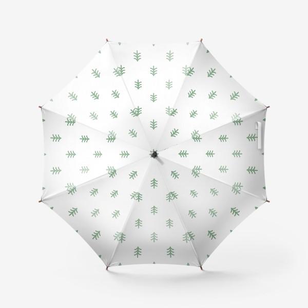 Зонт «Паттерн с минималистичными ёлочками»