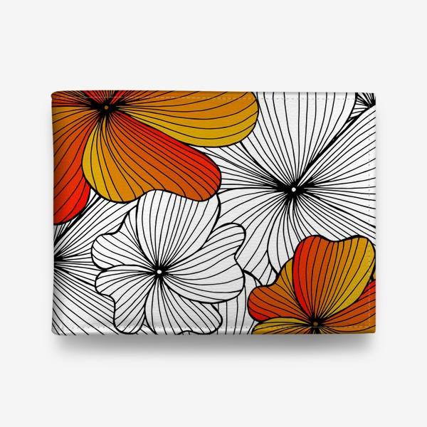 Кошелек «Осенние оранжевые цветы»