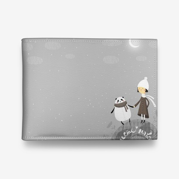 Кошелек «Девочка и панда. Вместе навсегда!»