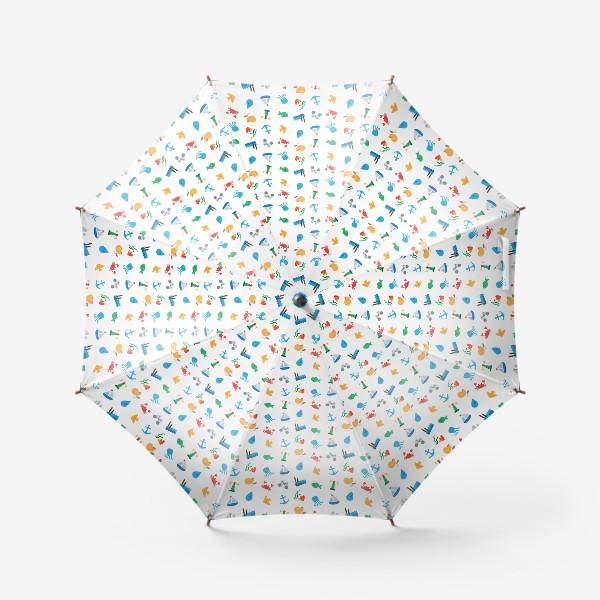 Зонт «Морской узор для летнего отдыха»