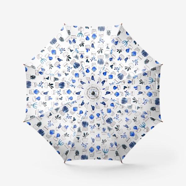 Зонт «Синие кактусы»