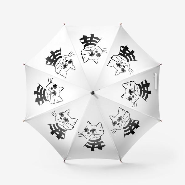 Зонт «Кот в матроске со шарфом и в очках»