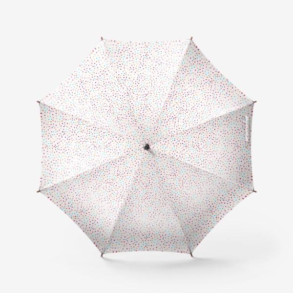 Зонт «Весёлые акварельные точки, паттерн»