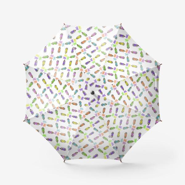 Зонт «Цветные карандаши (белый фон)»