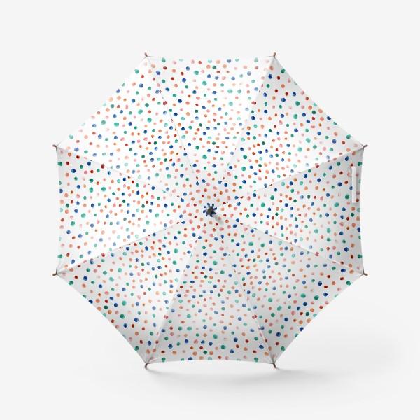 Зонт «Паттерн с акварельными точками»