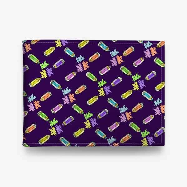 Кошелек «Цветные карандаши (фиолетовый фон)»