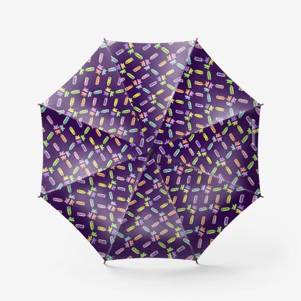 Зонт «Цветные карандаши (фиолетовый фон)»