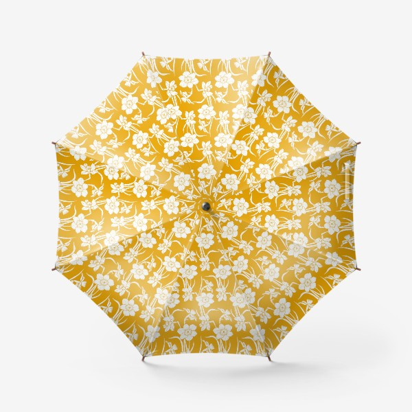 Зонт «Нарциссы на желтом фоне»