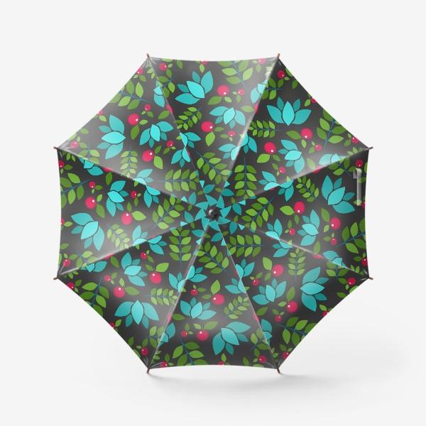 Зонт «Цветочно-ягодный узор»