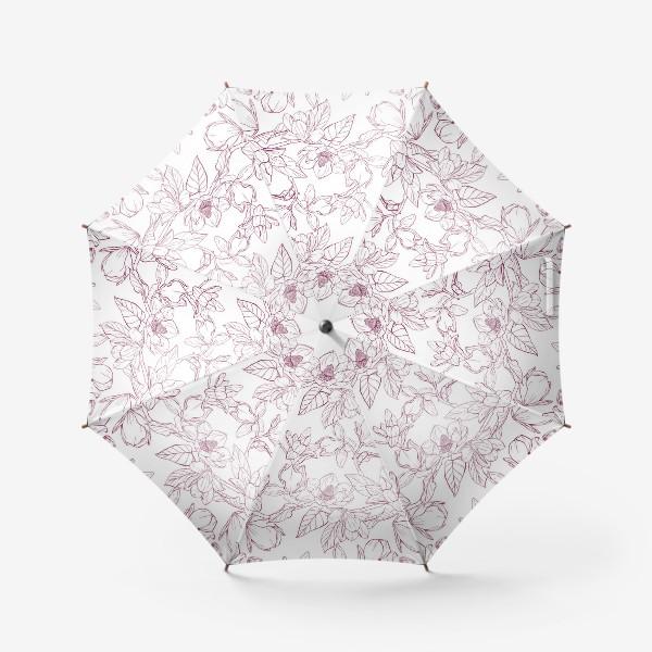 Зонт «Паттерн - магнолии»